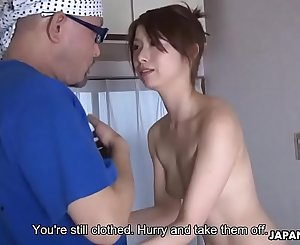 Horny dude cock taunted and sucked off by skinny chick
