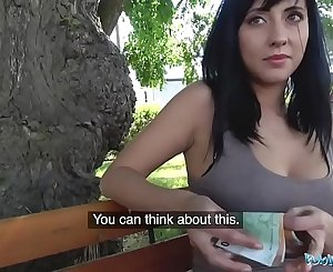 Public Agent Sweet ass babe with great tits fucked against fence