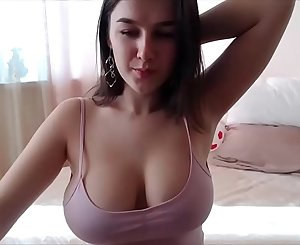 Beautiful natural tits of a very sexy amateur girl on webcam