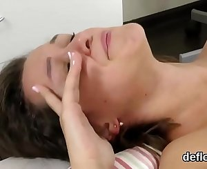 Lovable cutie gapes taut snatch and gets deflorated