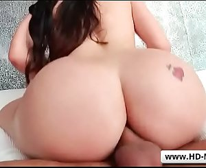 Busty milf Lana Rhoades welcoming a huge dick in her gaping booty