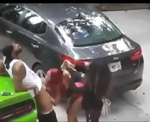 Ghetto bitches sucking dick in the hood