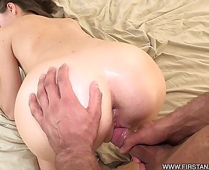 FirstAnalQuest.com - ANAL INTERCOURSE WITH A CLASSY BRUNETTE TEEN RUSSIAN